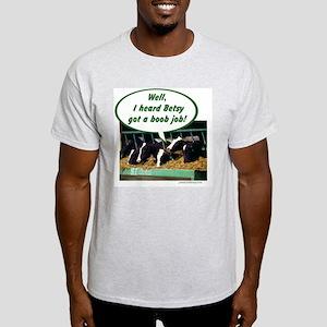 Boob Job Ash Grey T-Shirt
