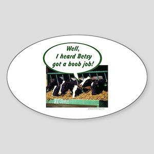 Boob Job Oval Sticker
