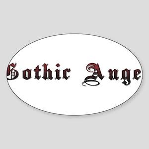 Gothic Angel Sticker (Oval)