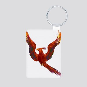 Phoenix Rising Aluminum Photo Keychain