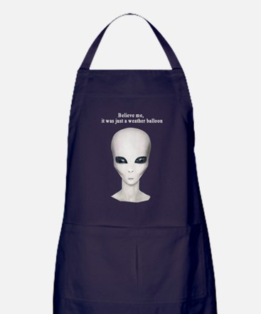 No UFO's Here Apron (dark)