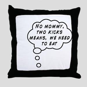 Two Kicks Throw Pillow