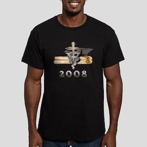 Vet Grad 2008 Men's Fitted T-Shirt (dark)