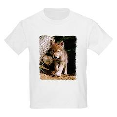 Approaching Wolf Pup Kids T-Shirt