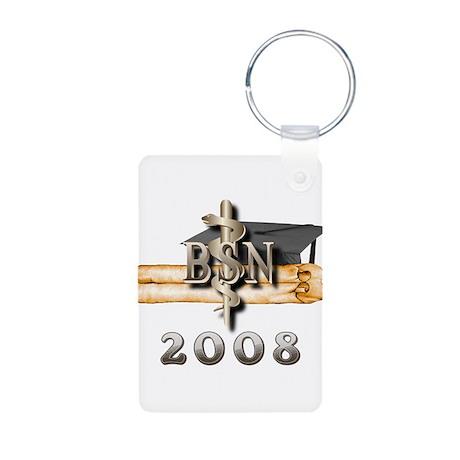 BSN Grad 2008 Aluminum Photo Keychain