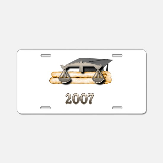 Law Grad 2007 Aluminum License Plate
