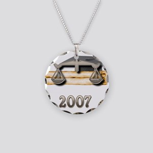 Law Grad 2007 Necklace Circle Charm
