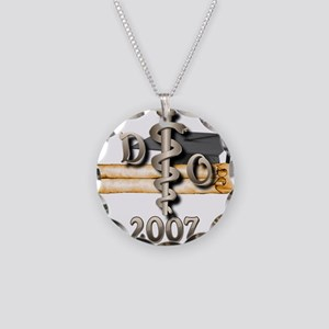 Osteopathic Grad Necklace Circle Charm