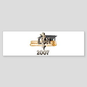 LVN Grad 2007 Sticker (Bumper)