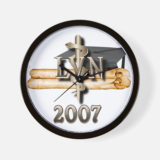 LVN Grad 2007 Wall Clock