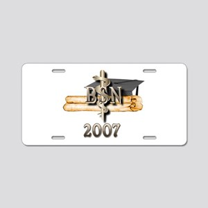 BSN Grad 2007 Aluminum License Plate