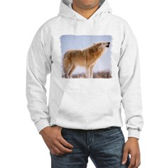 Howling White Wolf Hoodie