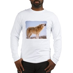 Howling White Wolf Long Sleeve T-Shirt