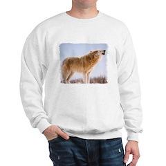 Howling White Wolf Sweatshirt