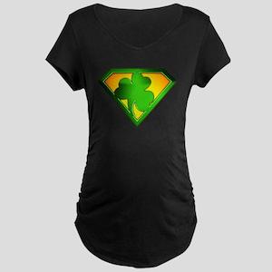 Super Shamrock Maternity Dark T-Shirt