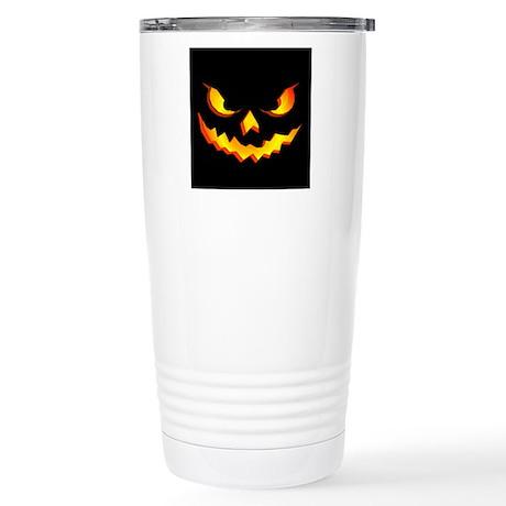 Halloween Pumpkin Face Stainless Steel Travel Mug