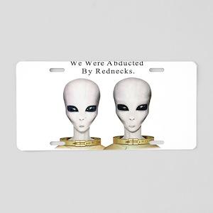 Alien Abduction Aluminum License Plate