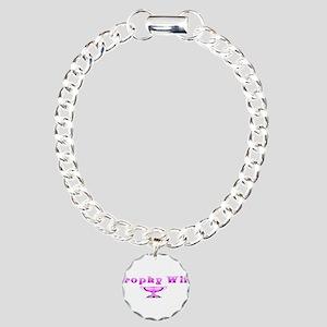 Trophy Wife(pink) Charm Bracelet, One Charm