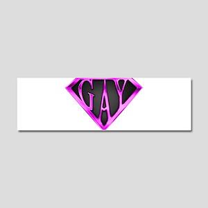SuperGay(Pink) Car Magnet 10 x 3