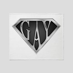 SuperGay(Metal) Throw Blanket