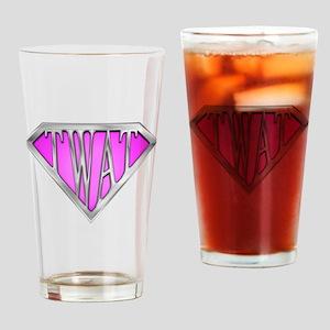 SuperTwat(Pink) Drinking Glass