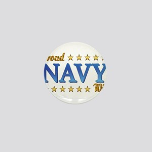 Proud Navy Wife Mini Button