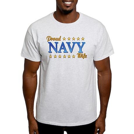 Proud Navy Wife Light T-Shirt
