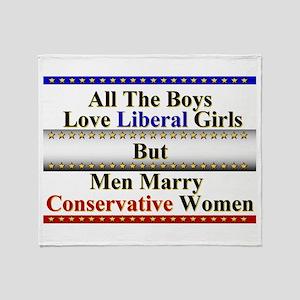 Boys Love Liberal Girls Throw Blanket