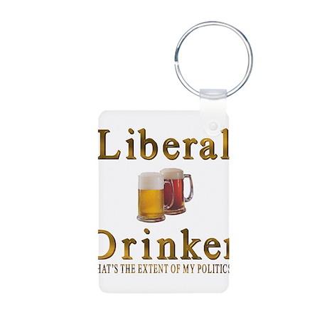 Liberal drinker Aluminum Photo Keychain