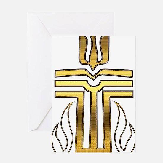 Presbyterian Cross Greeting Card