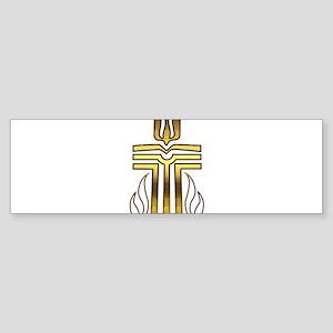 Presbyterian Cross Sticker (Bumper)