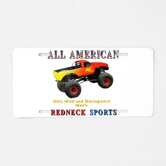 Redneck Sports Aluminum License Plate