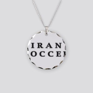 Iran Soccer Necklace Circle Charm