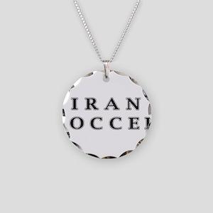 Iran Soccer Necklace Circle Charm