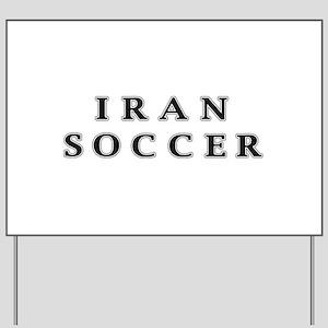 Iran Soccer Yard Sign