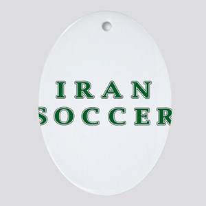Iran Soccer Ornament (Oval)