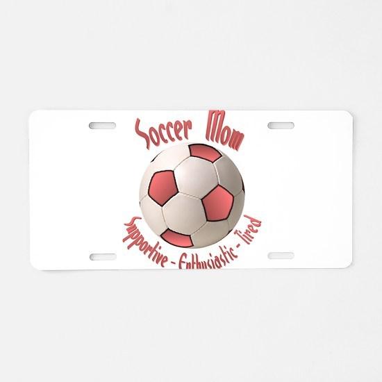 Soccer Mom Aluminum License Plate