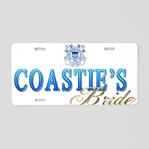 Coastie's Bride Aluminum License Plate