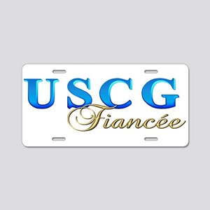 USCG Fiancee Aluminum License Plate