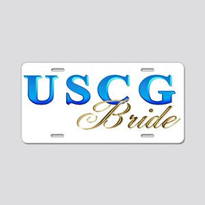 USCG Bride Aluminum License Plate