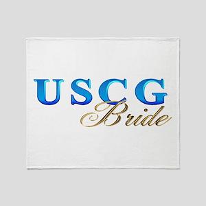 USCG Bride Throw Blanket