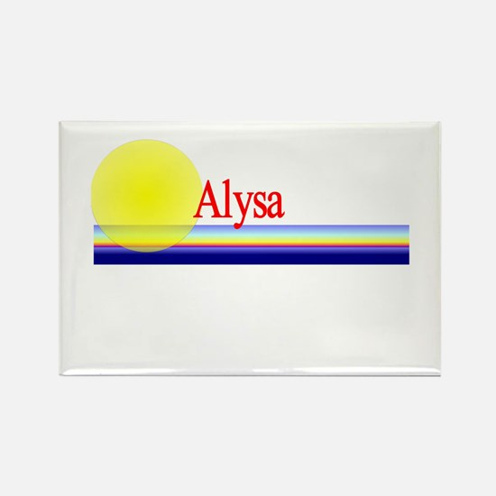 Alysa Rectangle Magnet