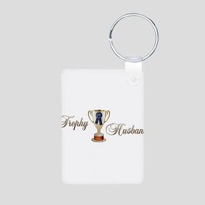 Trophy Husband Aluminum Photo Keychain