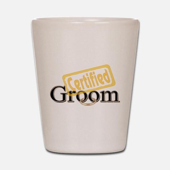 Certified Groom Shot Glass