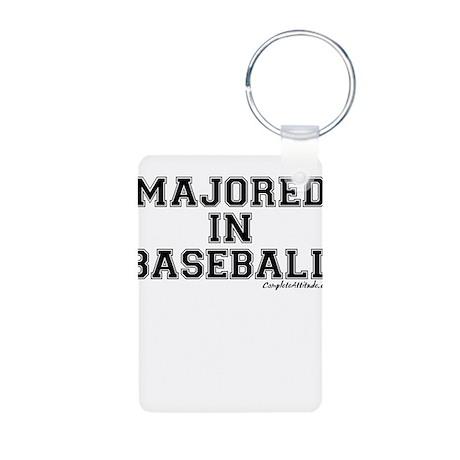 Majored In Baseball Aluminum Photo Keychain