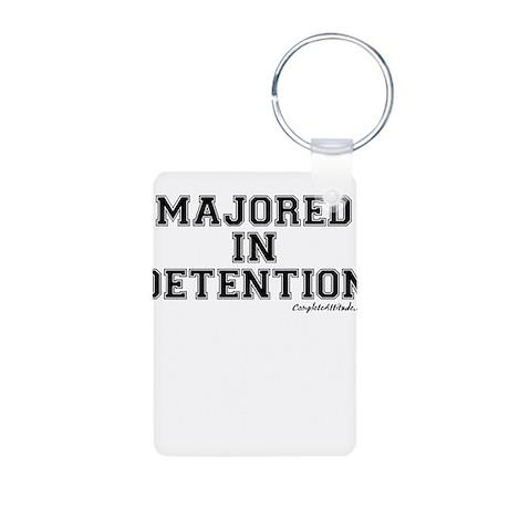 Majored In Detention Aluminum Photo Keychain