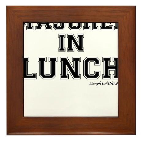 Majored In Lunch Framed Tile