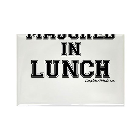 Majored In Lunch Rectangle Magnet