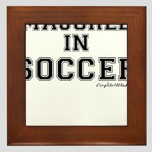 Majored In Soccer Framed Tile