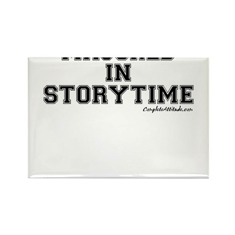 Majored In Storytime Rectangle Magnet